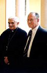 Two Leaders of the Novus Ordo Sect, Anti-Pope Benedict XVI and Michael Davies