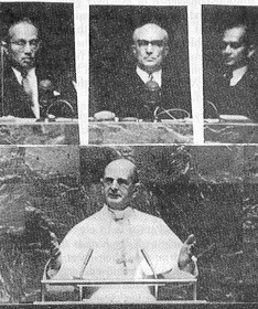 Montini a.k.a. Antipope Paul VI at the Masonic United Nations
