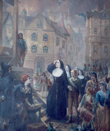 Holy Nuns being killed by the French Revolutionaries